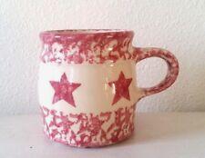 Gerald E Henn The Workshop Red Star Spongeware Pottery Coffee Cup Mug Roseville