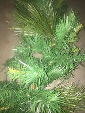 "9' Ft. x 11"" Holiday Christmas Mixed Green Garland White Pine And Balsam"
