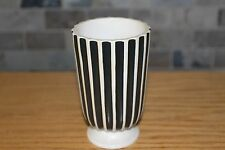 Stylish Vintage Wedgwood Matt Ribbed Footed Trumpet Vase by Norman Wilson