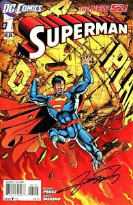 SUPERMAN #1 THE NEW 52! VARIANT PRINTING SIGNED BY ARTIST GEORGE PEREZ