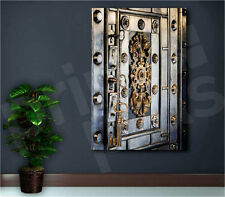 Antique Iron Safe With Keys Art Canvas Poster Print  Wall Decor