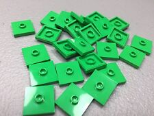 New Lego Plate x25, Modified 2x2 1 Stud in Center (Jumper) Bright Green 87580