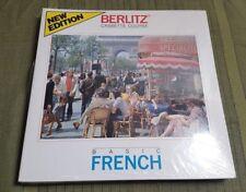 NOS 1985 BERLITZ Basic FRENCH Audio Cassette Course SEALED