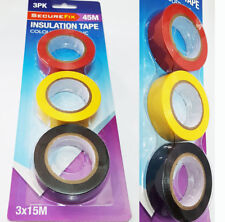 High Quality 3 Rolls Per Pack PVC Insulation 45M Tape Assorted Color Electrical