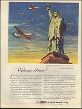 1954 Vintage ad The Airlines of the United States Statue of Liberty (090316)