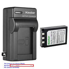 Kastar Battery Travel Charger for Olympus Li-10B Li-12B Li10C Stylus 500 Digital