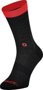 Scott Trail Crew Cycling Socks Dark Grey/Red, XL, 45-47