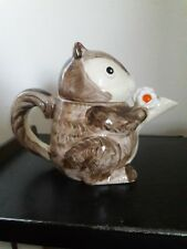 Vintage 1979 Enesco Japan Ceramic Squirrel Tea Pot