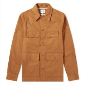 NORSE PROJECTS MADS HBT HERRINGBONE MENS RUSSET JACKET SHIRT SIZE XL -BNWT