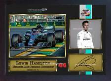 New 2018 Lewis Hamilton signed autograph print photo Grand Prix Framed