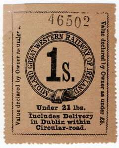 (I.B) Midland Great Western Railway (Ireland) : Parcel 1/-