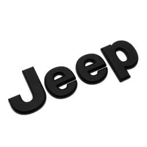2007-2018 OEM Mopar Hood Black Jeep Badge Emblem Nameplate 68185492AB