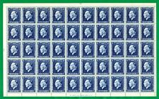 Greece. King George Issue, RRR Sheet of 50 MNH stamps, 8 Drachmas Year : 1937