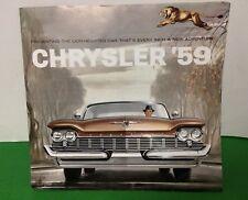 '59 Chrysler Fold-Out Car Dealer Brochure New Yorker Saratoga & Windsor 1959 VGC