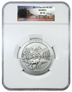 2011-P Olympic America The Beautiful ATB 5 Oz Silver Coin NGC SP70