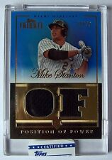 2012 Topps Tribute Mike Stanton Position of Power Blue Dual Jersey Card! 18/50