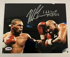 Mike Tyson & Evander Holyfield Dual/2 Signed Glossy 8x10 Photo PSA DNA COA