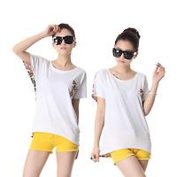 Womens / Ladies Short Sleeve Cotton T-Shirt White UK 8 - 14