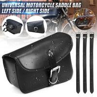 Universal Motorcycle PU Leather Saddlebag Side Luggage Tool Saddle Bag Pouch