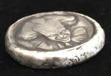 "MK BARZ AND BULLION 2 tr/oz ""Penny-Wise"" 999 Fine Silver HAND POURED"