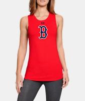 NEW BOSTON RED SOX WOMEN'S TANK TOP SLEEVELESS BASEBALL SHIRT TOP SIZE SMALL