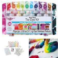 Tie Kit Arts Design Fabric Tye Dye Craft One Step Fashion Set 12 Color Super Big