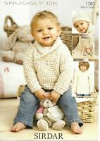 Sirdar Double Knitting Pattern 1785, Wrap Collar Jumper ,Hat, Blanket  0 - 7 yrs