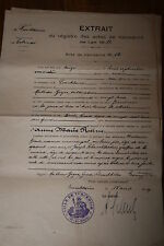 extrait acte de naissance Alsace Turckheim An 1813