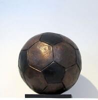 """Lost Wax Cast Bronze """"Soccer Ball""""  Football Sculpture Trophy/Award Original"""