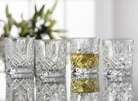 Galway Irish Crystal Renmore DOF Whiskey Tumblers Set of 4 Glasses RRP £39.50