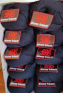 Laine à tricoter Anny Blatt. Lot de 10 pelotes.
