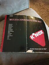 KNEX Multi- Constructor Set Manual. 43123.