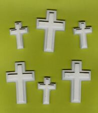 Cross with edge mix plaster of paris painting project. Set of 12!