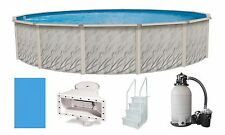 "Above Ground 15'x52"" Round Meadows Swimming Pool w/ Liner, Step, Filter Kit"