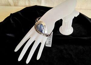 Robert Lee Morris Boho Bracelet Massive Silver Plated Stone Accent