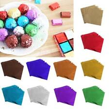 100Pcs Chocolate Candy Package Paper Aluminum foil Wrapper for Wedding 8 x 8cm