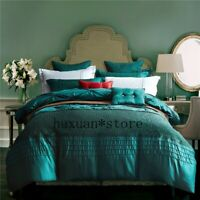 Washed Silk Cotton Fashion Bedding Set Handmade Bed  Cover Queen King 4/6/7pcs