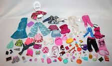 Huge Lot Over 70 Pieces Barbie Clothing, Household Accessories, Food, Etc FUN