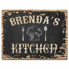 PP1722 BRENDA'S KITCHEN Plate Chic Sign Home Room Kitchen Decor Birthday Gift