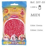 207-33 Hama Beads MIDI 1000x Piezas, color cereza, cerise colour
