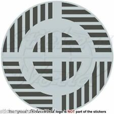 DOMINICAN REPUBLIC AirForce Aircraft Roundel LowVis Type2 100mm, Sticker Decal