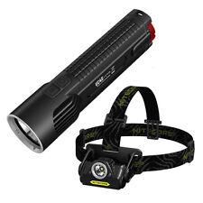 Bundle: Nitecore EC4S 2150Lm Flashlight + Nitecore HA20 Headlamp