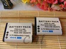 2 NEW DB-L80 DB-L80A Battery For Sanyo Xacti VPC-CG10