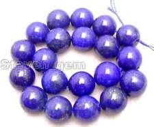 "SALE Big 19-20mm Round Blue natural lapis lazuli loose beads strand 15""-los633"