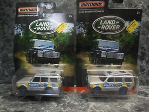 2 2016 matchbox land rover police vehicles