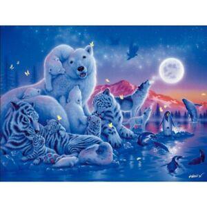 Diamond Painting Cross Stitch 5D Wolf Dolphin Tiger Decoration Cross Stitch