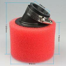 38mm Red Foam Air Filter Cleaner 50cc 125cc 150cc Pit Dirt Bike Moped Scooter