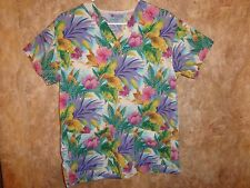 WORKING SCRUBS BY WHITE SWAN SCRUB TOP SIZE XS ( 2 POCKETS) STYLE:1447-397