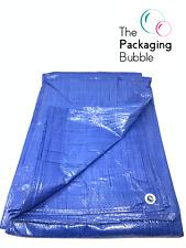 Heavy Duty Tarpaulin Sheet Blue Tarp Lightweight Waterproof Ground Cover Camping