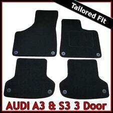 Audi A3 Mk2 3-Door 2003-2013 Fully Tailored Fitted Carpet Car Floor Mats BLACK